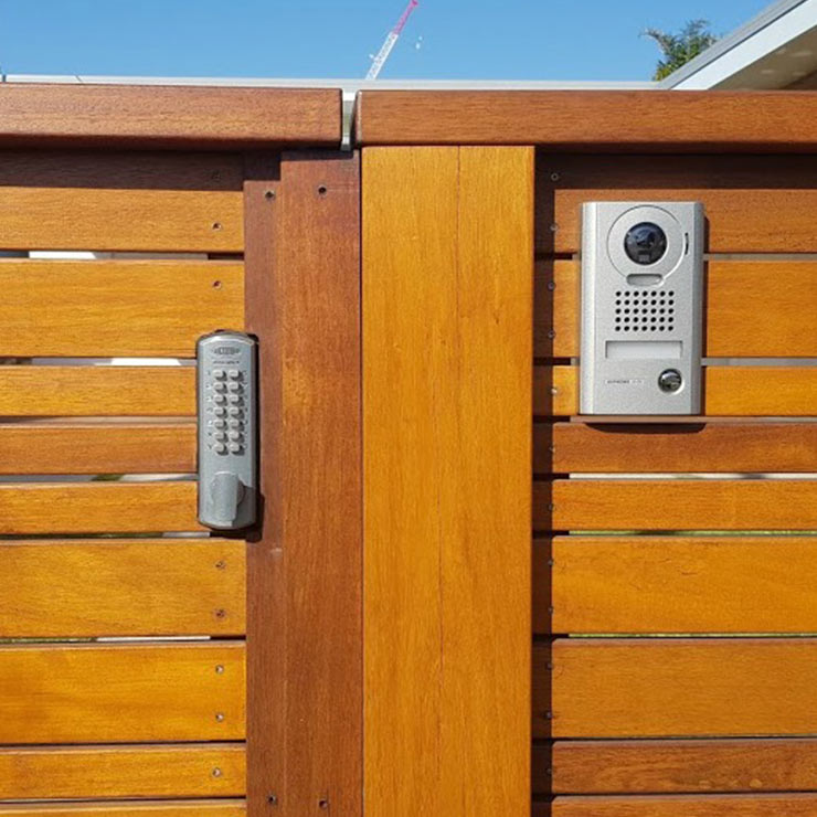 home intercom system on gate